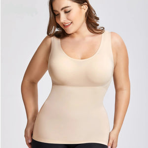 Women's Plus Size Tummy Control Shapewear Smooth Body Shaping Camisole Basic Tank Tops