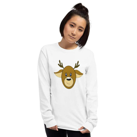 Hand Made Jewelry and Original Art|Kitten Hill Art Studio S Reindeer Long Sleeve Tee
