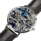 JetPrint Fulfillment Abstract Leather Strap Watch