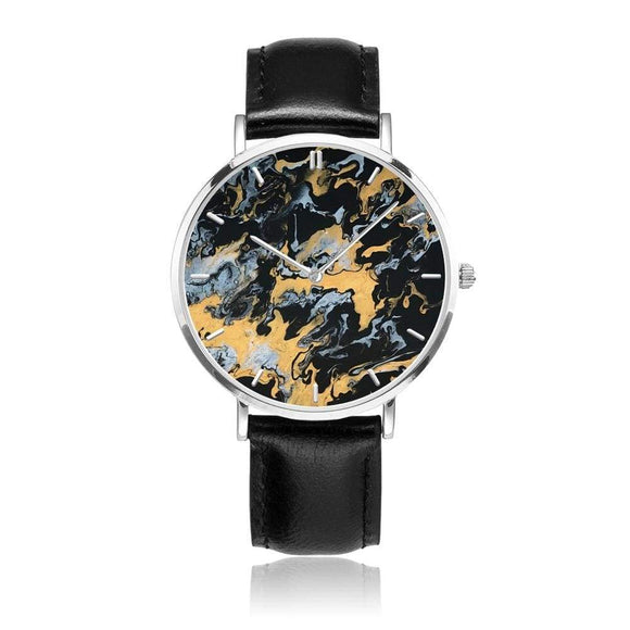 JetPrint Fulfillment Black / All That Glitters Watch - diameter - 33mm Leather Strap Watch-All That Glitters
