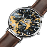 JetPrint Fulfillment Leather Strap Watch-All That Glitters