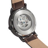 JetPrint Fulfillment Meteor Storm Leather Strap Watch
