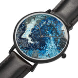 JetPrint Fulfillment Ocean Leather Strap Watch