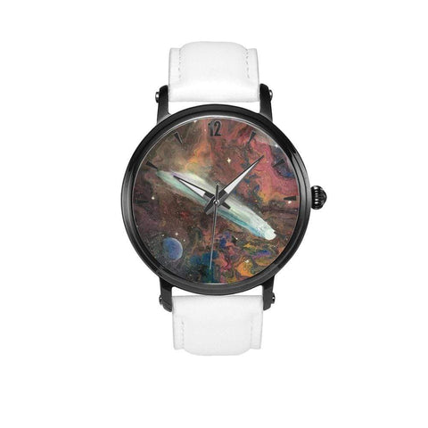 JetPrint Fulfillment White / 46mm / Comet in Space Leather Strap Watch Comet in Space Leather Strap Watch