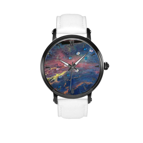 JetPrint Fulfillment White / 46mm / Meteor Storm Leather Strap Watch Meteor Storm Leather Strap Watch