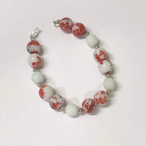 Kitten Hill Art Studio Bracelet Red and White Bracelet
