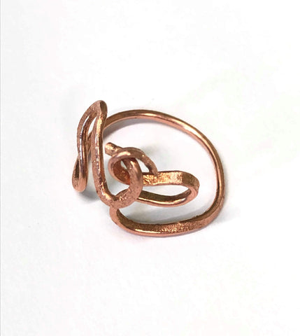 Kitten Hill Art Studio Jewelry Copper Knotted Ring