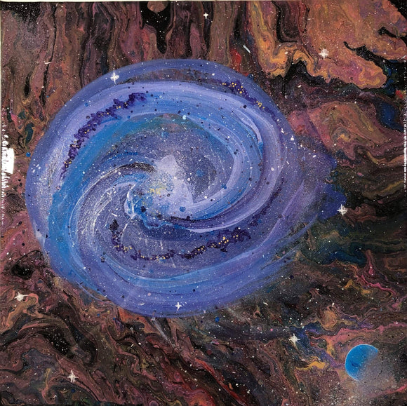 Kitten Hill Art Studio Painting Galaxy Painting in Acrylic