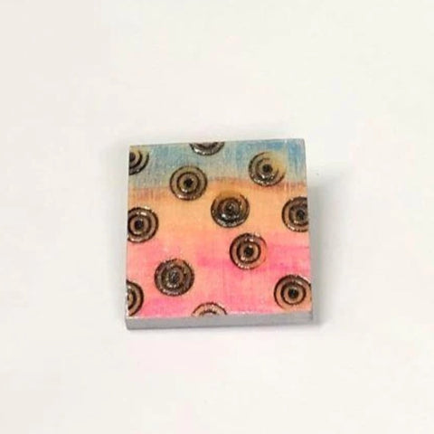 Kitten Hill Art Studio Pins and Magnets Colorful Square Pin