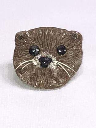 Kitten Hill Art Studio Pins and Magnets River Otter Magnet
