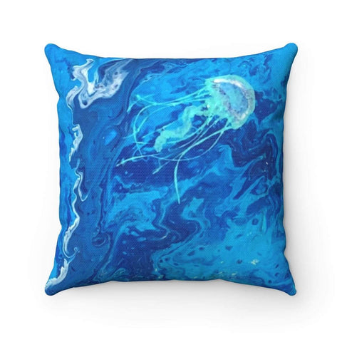 Printify Home Decor 14x14 Jelly Fish Square Pillow Case