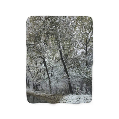 Printify Home Decor 50'' x 60'' Winter Woods Sherpa Fleece Blanket