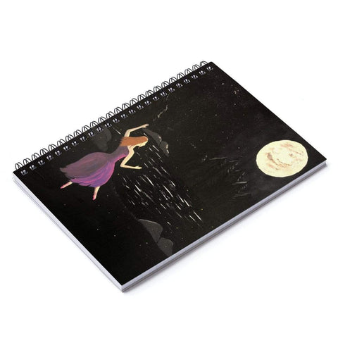 Printify Paper products Spiral Notebook Dancing Ballerina Spiral Notebook - Ruled Line