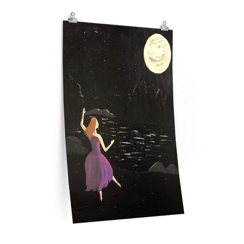 Printify Poster 24″ × 36″ Dancing in the Pale Moonlight Poster