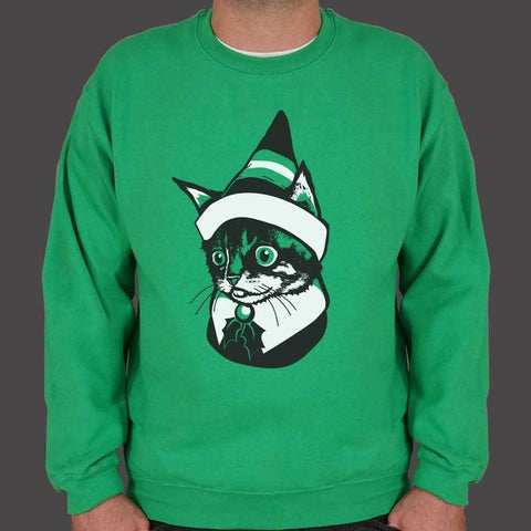US Drop Ship Sweatshirt Elf Kitten Sweater (Mens)