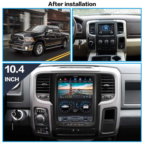 2014-2018 RAM 1500 Tesla Style Vertical screen 12.1''