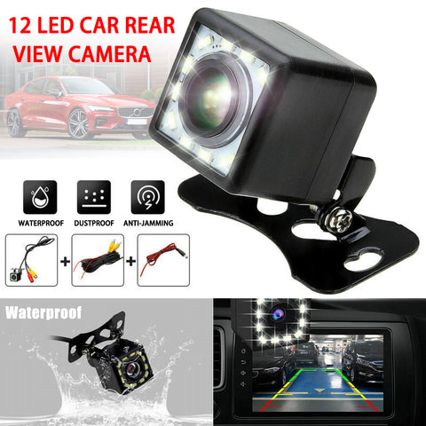 12 LED Backup Camera - Waterproof, wide angle