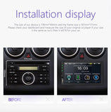 "Universal 7""Double din touch screen car stereo with mirror link, SD card, SUB, Aux, Bluetooth & FM"