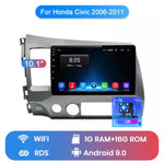 2007-2011 Honda Civic Fascia Dash kit with 10.1 inch stereo android