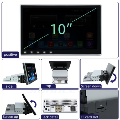 "10.2"" tilt-able high definition display android car deck"