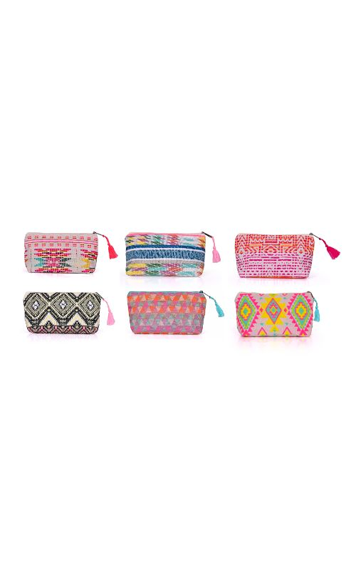 Set of 6 Cosmetic Bags