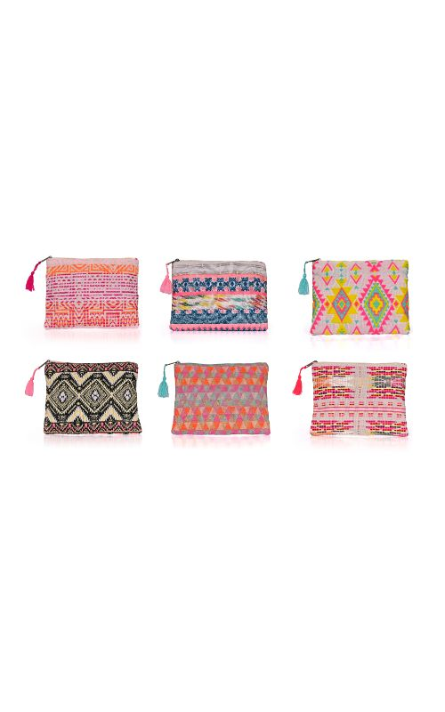 Set of 6 clutch without embroidery