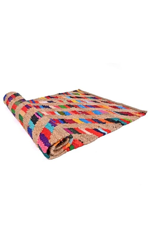 Jute Patch Multicolored Rug