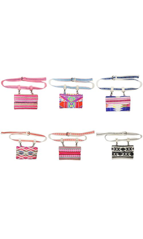 Set of 6 Jacquard Belt Bag