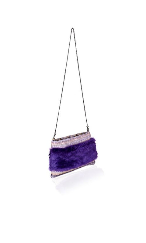 Plum Jam Fur Clutch