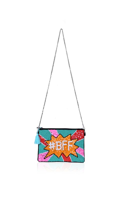 BFF Embellished Clutch