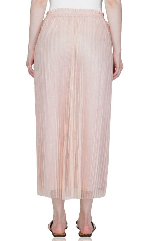 Rose Cloud Pleated Net Trousers