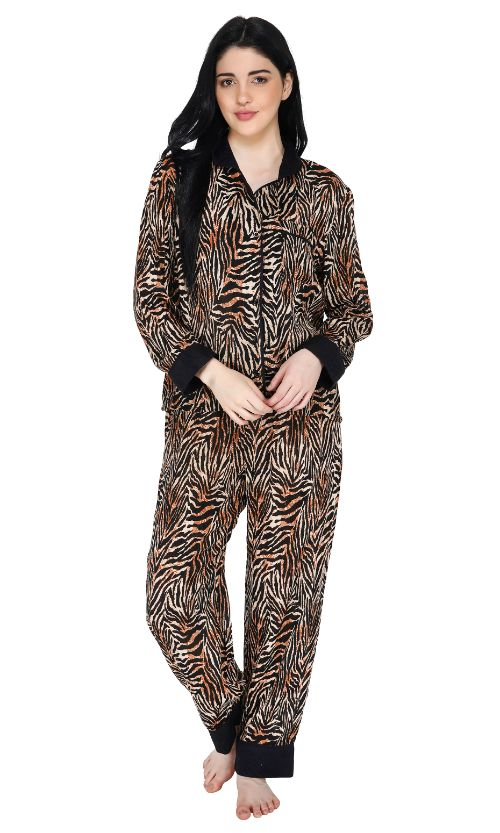 Set of Six Elegant Animal Print Loungewear Set