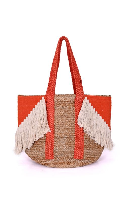 Spicy Orange Fringe Bag
