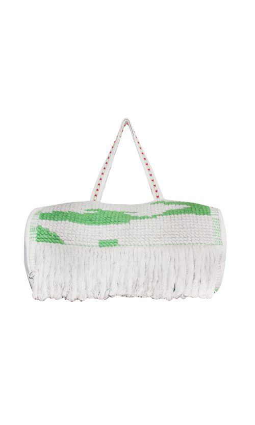 Green Tufted shoulder bag