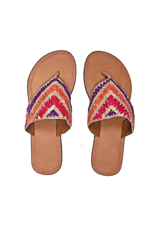 Set of Six Raffia Embellished Gloria Sandals