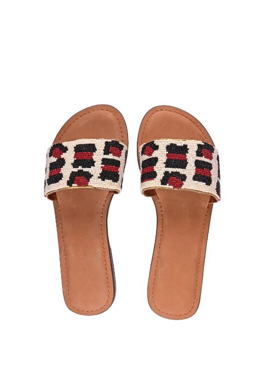 Set of Six Leopard Slip On Sandals