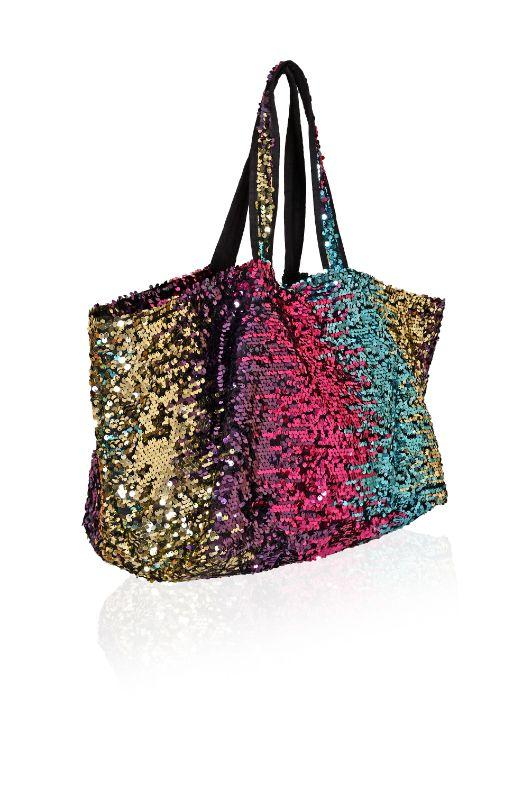 Sequined Peacock Tote