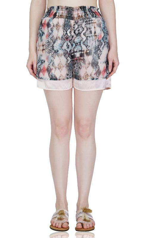 Peachskin print Beach Shorts