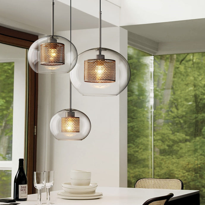 Nordic Industrial Loft Glass Pendant Light Free Shipping