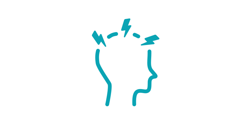 headache line-art icon