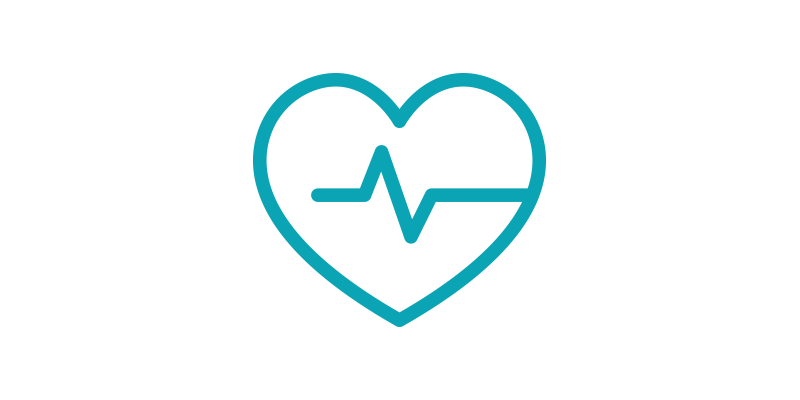 heart disease line-art icon