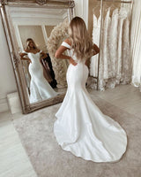 This Off The Shoulder Mermaid Wedding Dresses Chic Sleeveless Bridal Gowns Online at Ballbella comes in all sizes and colors. Shop a selection of formal dresses for special occasion and weddings at reasonable price.