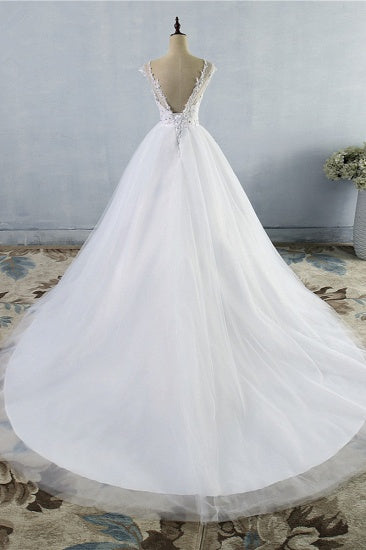 This Strapless Lace Appliques Ball Gown Wedding Dresses at Ballbella comes in all sizes and colors. Shop a selection of formal dresses for special occasion and weddings at reasonable price.