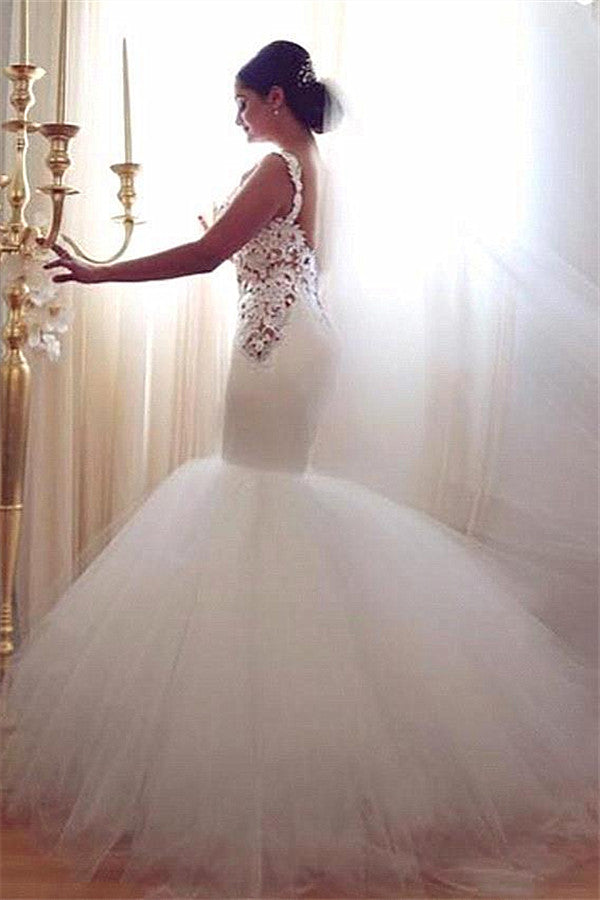 Ballbella custom made this mermaid wedding dresses, vintage wedding dress in high quality at factory price, offer extra discount and make you the most beautiful one in the party.
