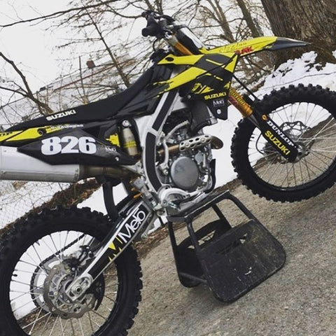 Suzuki RMZ250 with Core Grip frame grip tape guards