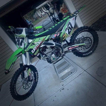 Kawasaki KX250F with Core Grip frame grip tape guards