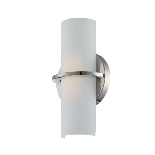 62/185-Tucker-LED-One-Light-Wall-Sconce-4.8-Watt-285-Lumens-Soft-White-2700K-KolourOne-LED-Technology-Etched-Opal-Glass-Polished-Nickel-Fixture