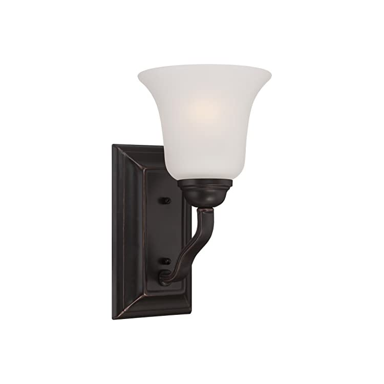 60/5691-One-Light-Fixture-Vanity,-Bronze/Dark