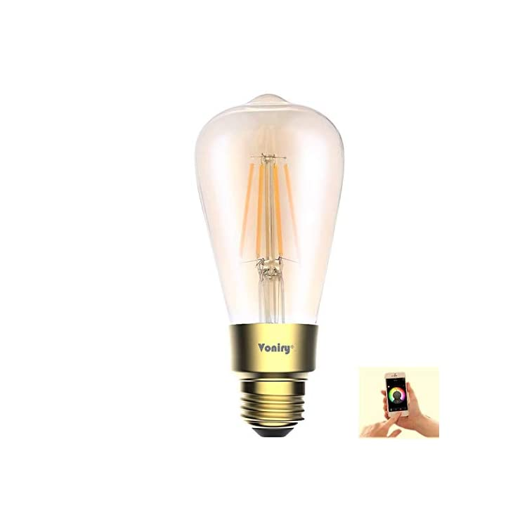 Smart-Wi-Fi-LED-Edison-Light-Bulb-ST21(ST64)-E26-6W-(60W-Equivalent)-Dimmable-Soft-White-2500K-600LM-CRI>80ra-PF>0.9-No-Hub-Required-Compatible-with-Alexa-&Google-Assistant(1P-Amber-Glass)