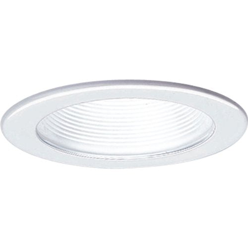 P8044-28-Transitional-One-Light-Step-Baffle-Trim-Collection-in-White-Finish,-5-Inch-Diameter